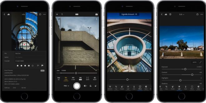 Lightroom for iOS and Android with 3D Touch Support for free