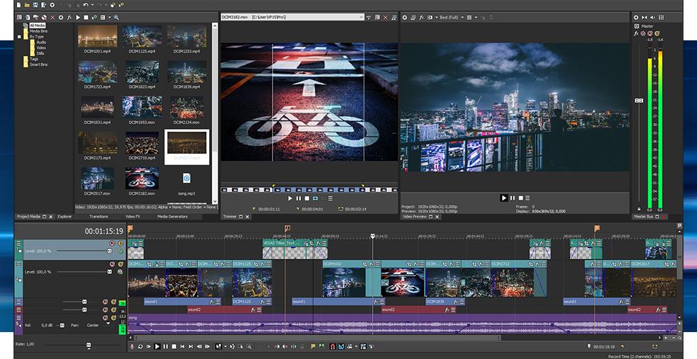 vegas pro 15 screenshot int - Sony Vegas Pro 15 Free Download - Get Into PC