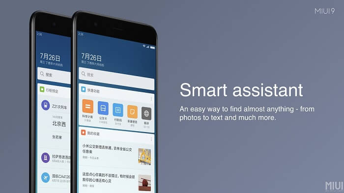 xiaomi smart assistant - MIUI 9 Rolling Out In India On 2 November