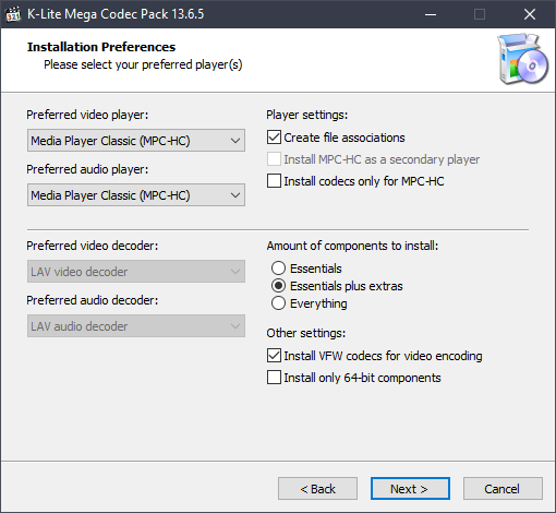 k-lite codec pack latest version