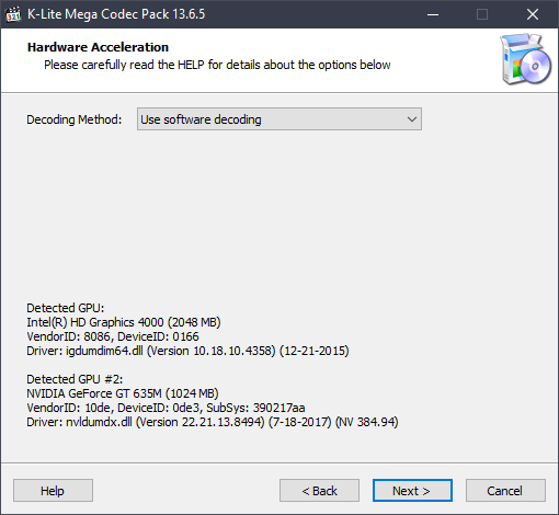 k-lite codec pack for windows 10