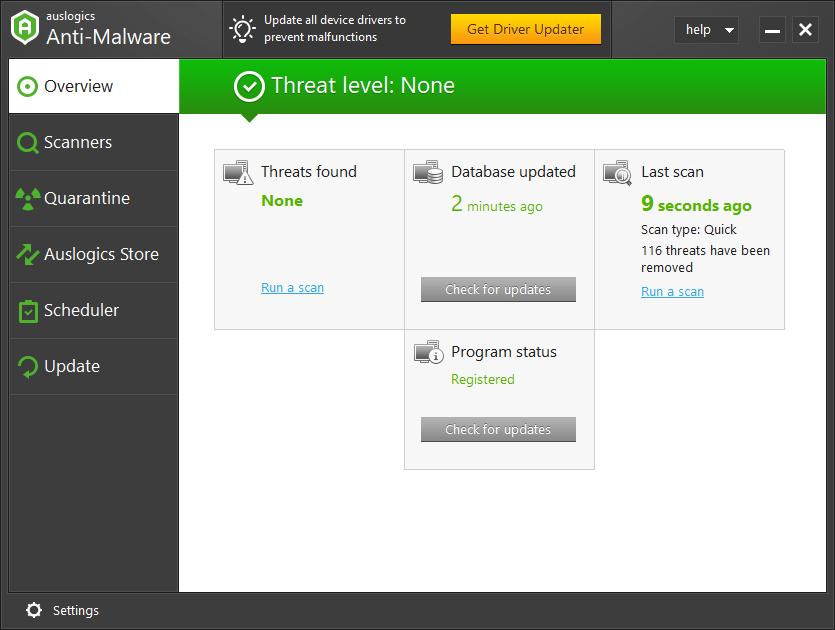 auslogic anti 1 - Auslogics Anti-Malware 1.11.0 + Crack