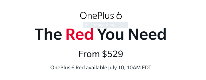 Capture - OnePlus 6 Red is going on Sale Tomorrow June 10