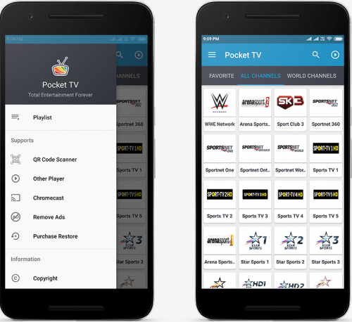 master pocket tv apk